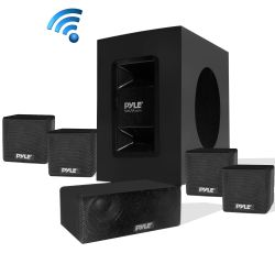 Entertainment Centers - 5.1 Channel Home Theater Speaker System – Active Subwoofer & Surround Sound Speakers