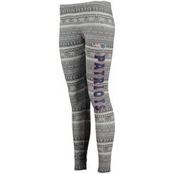 New England Patriots Concept Sports Women's Comeback Tribal Print Leggings - Charcoal