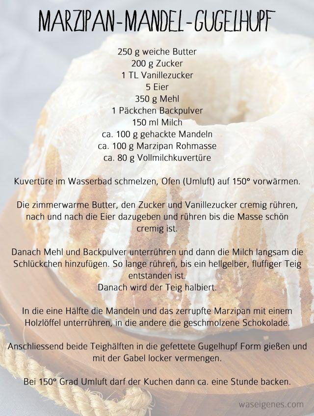 Rezept: Marzipan Mandel Gugelhupf