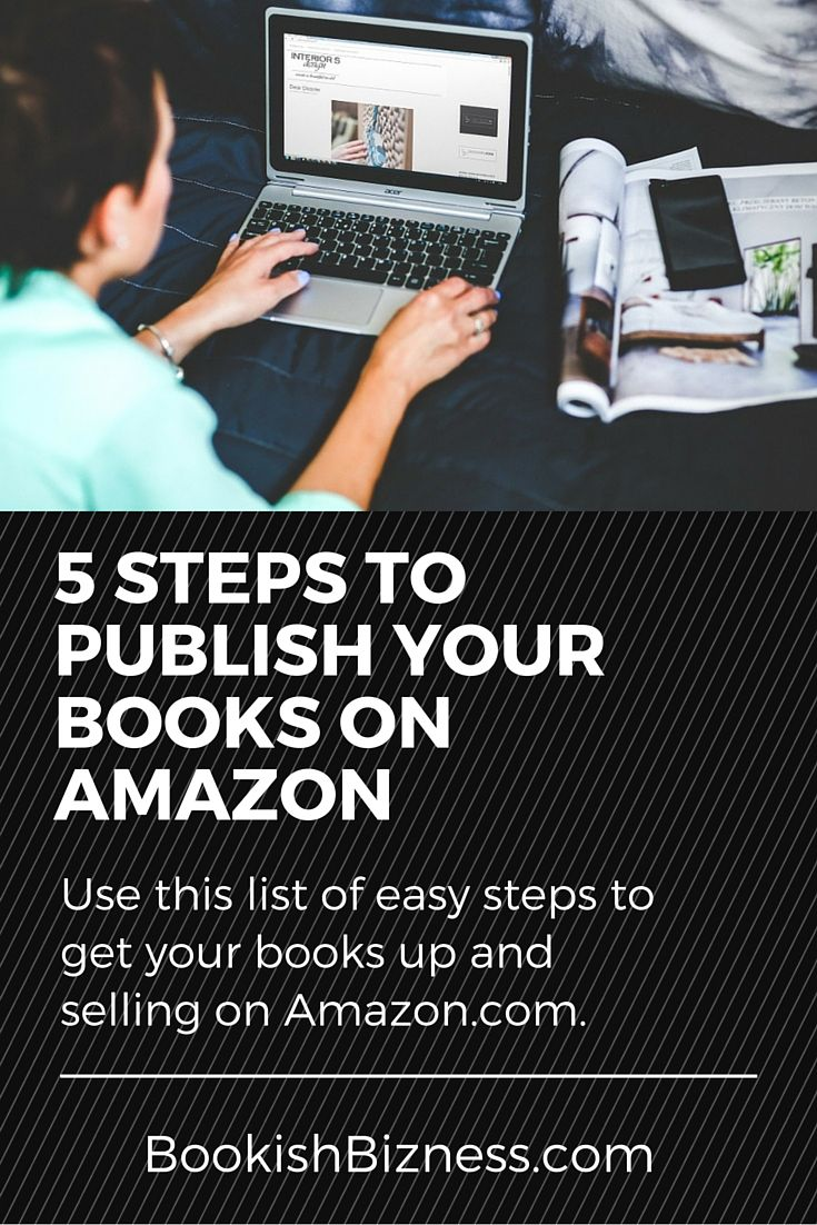 Want to learn how to publish a book on Amazon? Click here to read these 5 easy steps to have your book up and running in no time.
