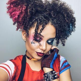 Esta Harley Quinn deslumbrante. | 20 maquiagens lindas para experimentar neste Halloween