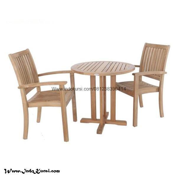 JualSet Kursi Restoran Outdoor Kayu Jati merupakan Produk Mebel Indo Kursi Produk Meja Cafe Garden dengan bahan Kayu Jati Solid Model Kursi Jari Jari Lengkung