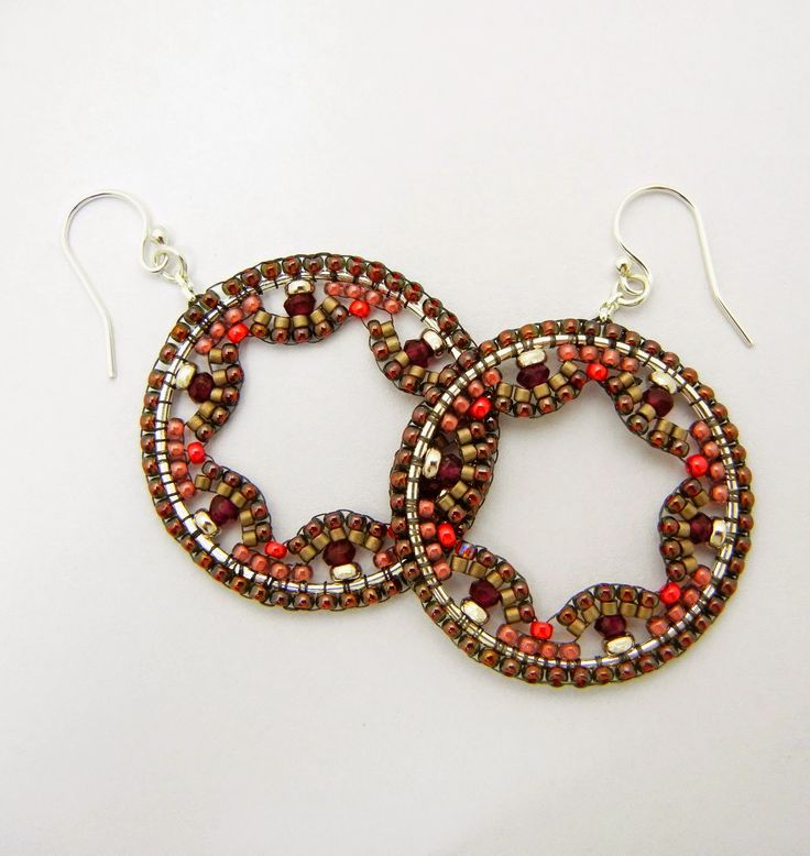 Circular Brick Stitch Earrings :Backstory Beads: Clio Earrings