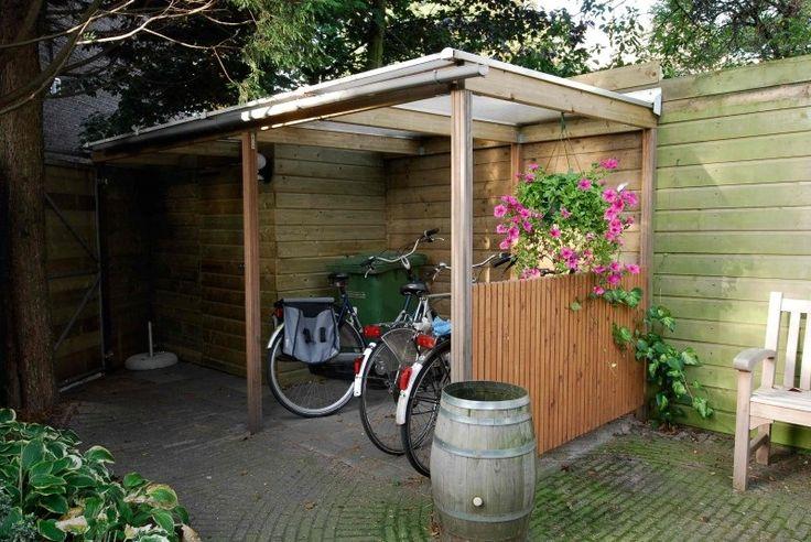 Zelf afdak maken voor fietsen en meubels