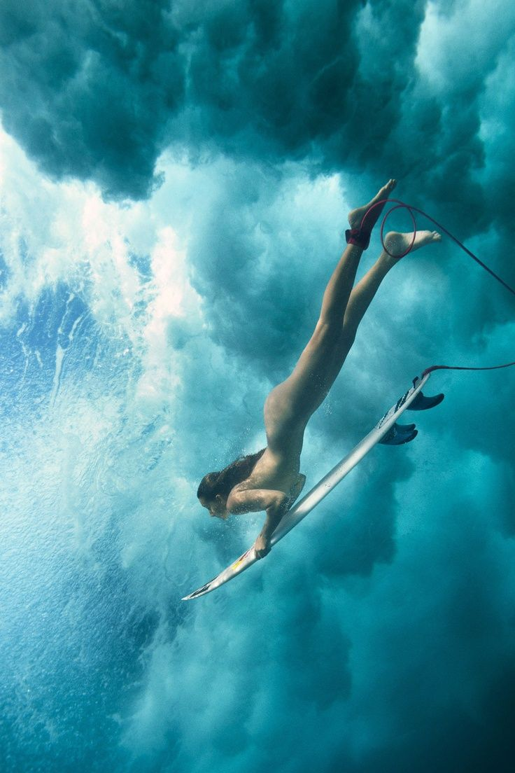 Maia Gabeira for the Red Bull naked surf shoot