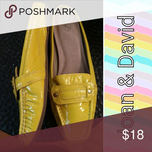 Patent leather Joan & david mules sz 8-1/2 Genuine patent leather mules in a happy yellow. Mint condition. Quality craftsmanship Joan & David is k own for. Sz 8-1/2 Joan & David Shoes Mules & Clogs