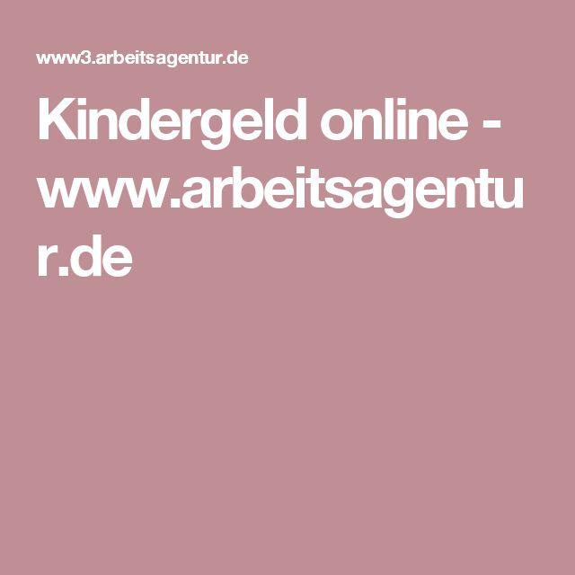 Kindergeld online - www.arbeitsagentur.de