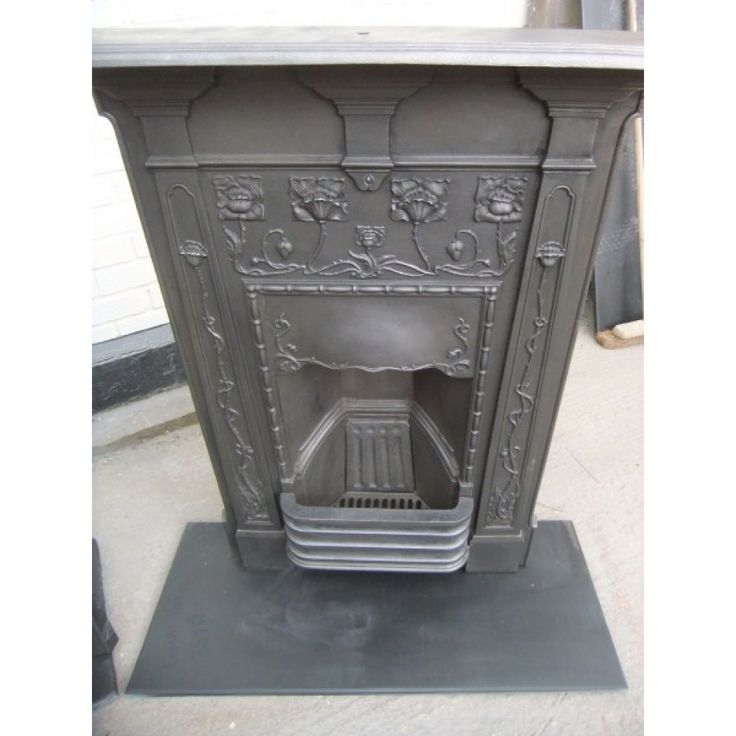 Bedroom Fireplace - Edwardian Cast Iron bedroom fireplace, coal hob