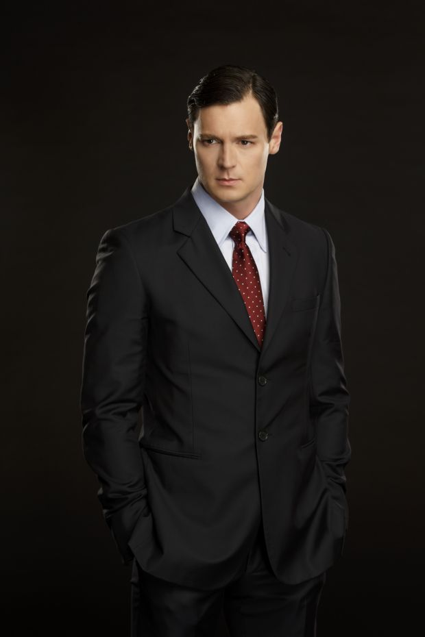 Benjamin Walker as Patrick Bateman in a promotional image for Broadway's American Psycho.