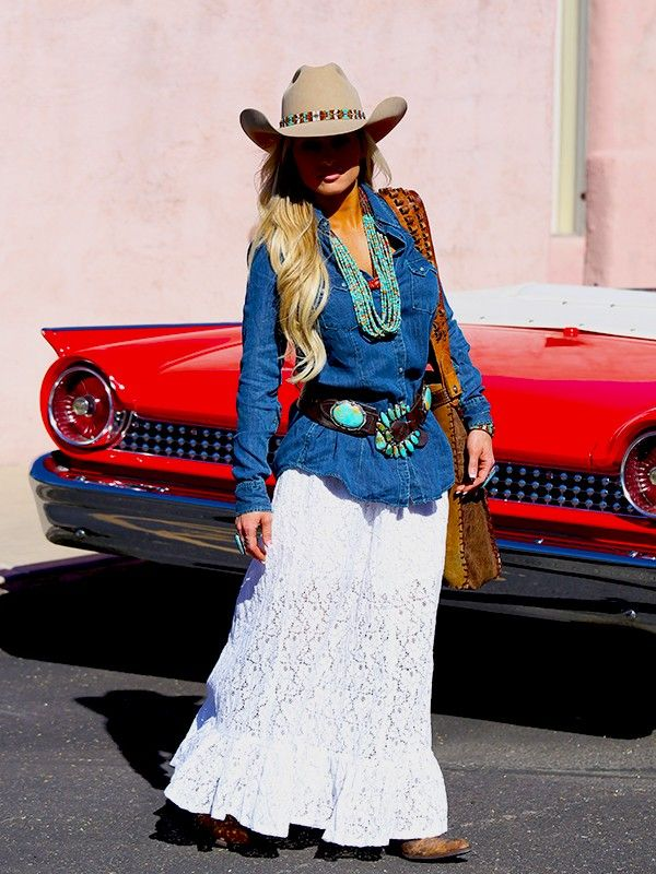 ❤ Cowgirls Fashions Western Style Lace Skirt & Ryan Denim