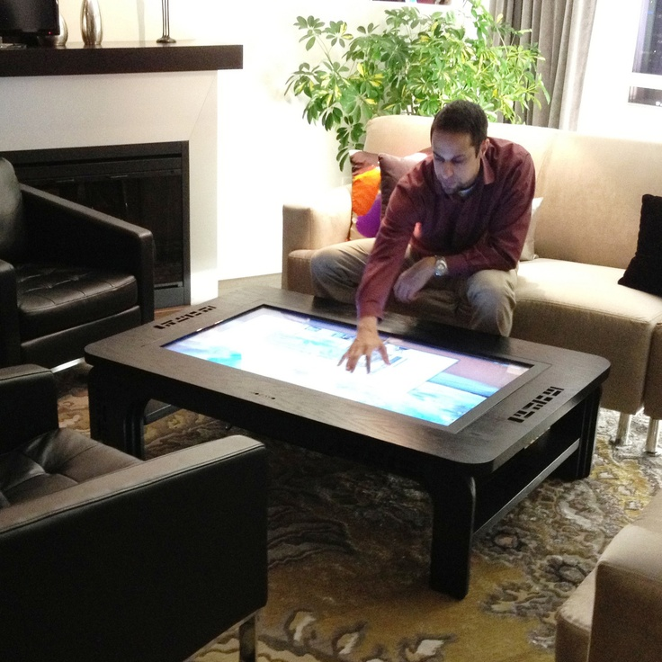 It's a giant tablet table. Amazing.