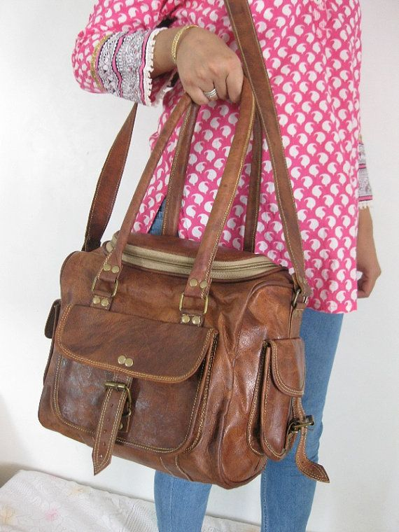 I want this for my Diaper Bag!!!!! Leather Tote Bag Leather handbag Purse Cross Body Bag  Diaper bag