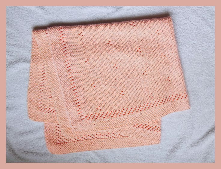 Big size 100% cotton knitted baby blanket by textileQadore on Etsy