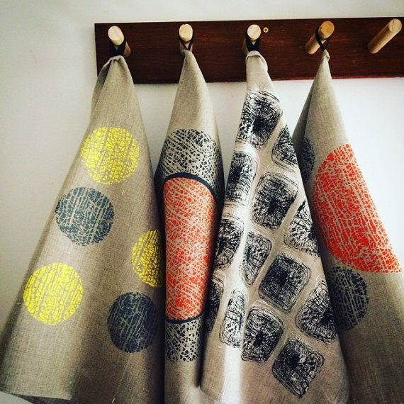 Mr T. Towel and his family make a stylish gift pack for many occasions or just a treat for yourself. The tea towels are 100% linen and handprinted by me in my studio in Byron Bay. The designs are based on drawings that were then metal plate etched. I utilise this method of printmaking to transfer to screen print. All inks are water based eco friendly and the linen gets better and better with every wash.