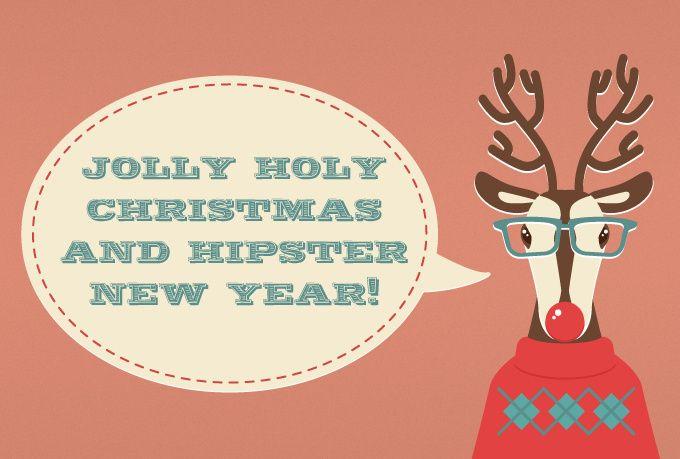 jolly holly xmas and hipster new year!