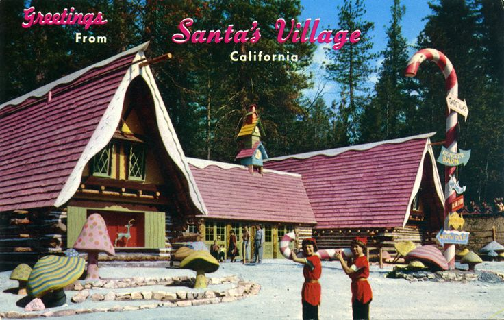 There were two Santa's Villages in California - today they are both closed. One was near Los Angeles, at Skyforest, near Lake Arrowhead in the San Bernardino Mountains. There was another Santa's Village near San Francisco, at 6348 Santa Cruz Highway, Santa Cruz, California.