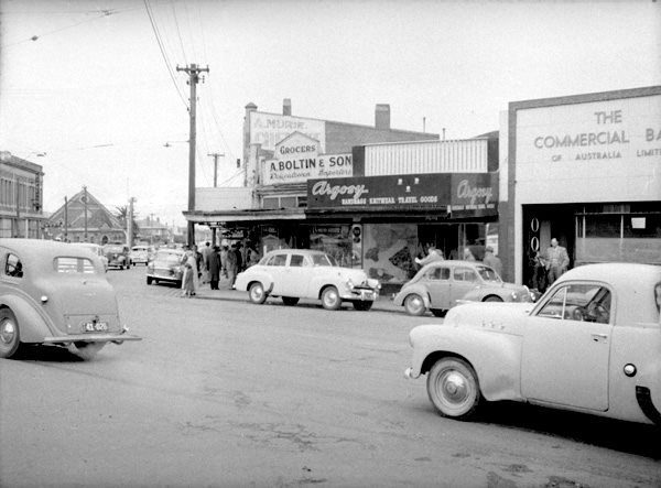 Corner of Acland and Barkly Streets circa 1960.