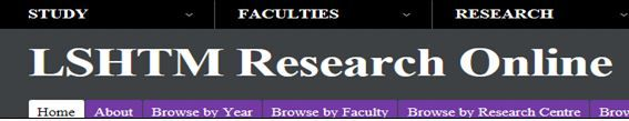 LSHTM Research Online. The institutional repository for the London School of Hygiene and Tropical Medicine. It is a freely accessible online database of the research outputs produced by the school. 2,000 full text articles. http://researchonline.lshtm.ac.uk/