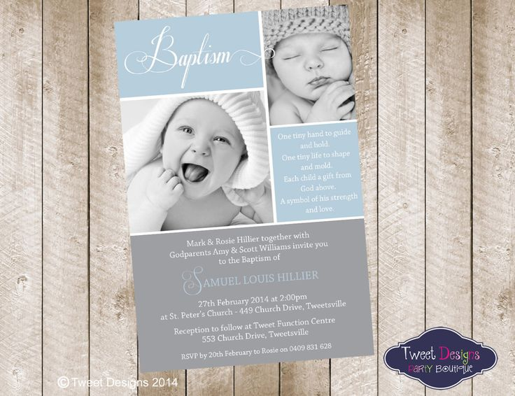 Photo Invitations Birthday And Christening Instant Kids