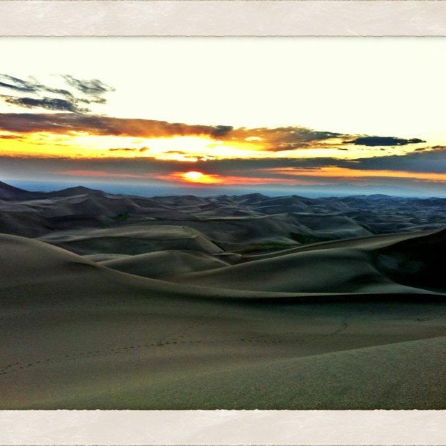 Sunset over the dunes. Great Sand Dunes National Park CO. Photo by: Andrew Twidwell: Andrew Twidwel, Favorite Places, Sands Dune, Dune National, National Parks, Zemlock Living