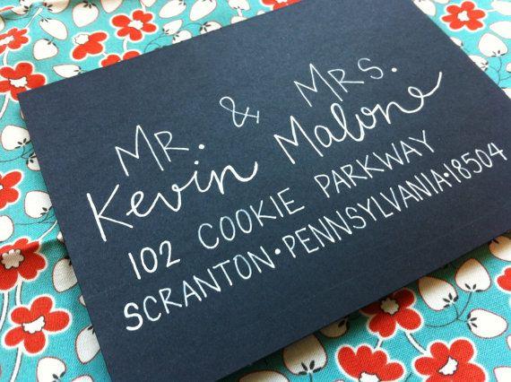 Calligraphy for Wedding Invitations Hand by GreySnailPress on Etsy, $1.50