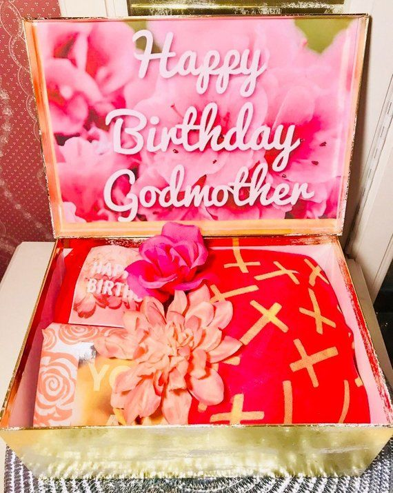 Godmother Birthday Gift Box Happy
