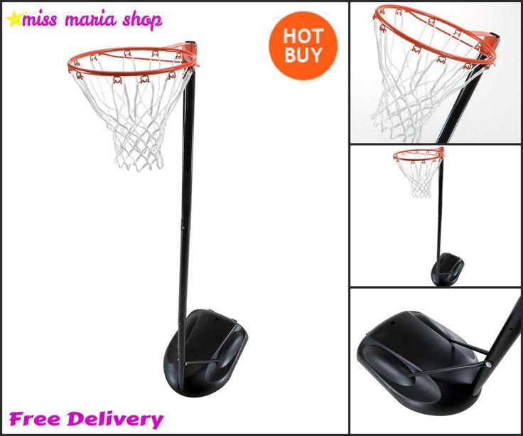 Portable Netball Net Basketball Play System Kids Fun Garden Outdoor Family Games