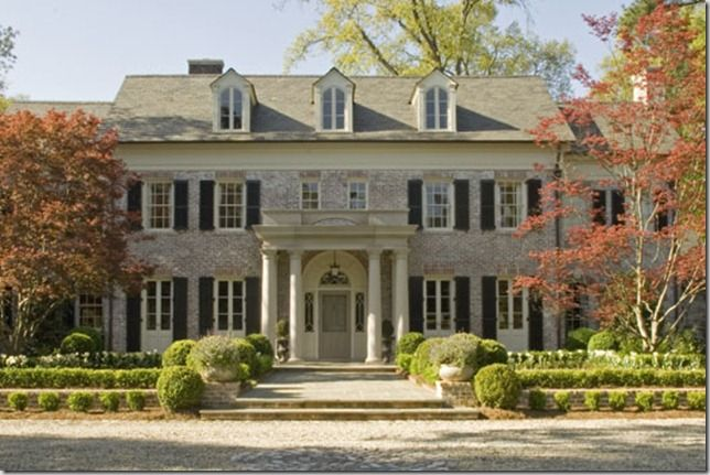 Elegant whitewash brick colonial
