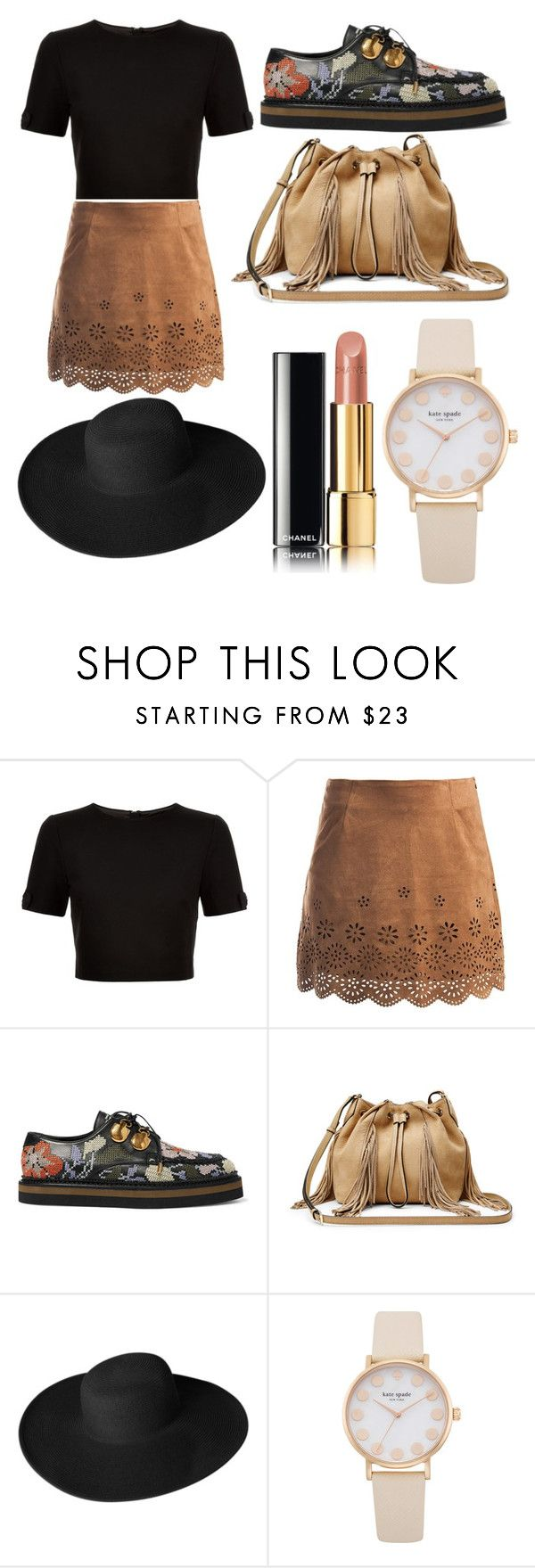 """how to wear an oxford shoes"" by beatrigitaa on Polyvore featuring Ted Baker, Sans Souci, Alexander McQueen, Diane Von Furstenberg, Dorfman Pacific and Chanel"