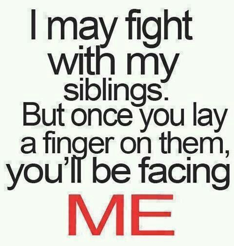I Love My Siblings Quotes: Protective Sister-deal With It