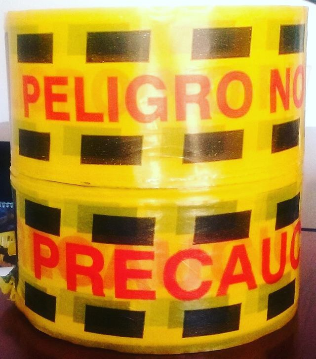 """Cinta de Señalización """"PELIGRO NO PASE"""" y """"PRECAUCIÓN"""". Rollo de 500 metros. #seguridad #señalización #inteligenciavial #duradero #peligro #nopase #precaución #cinta #hlserviciosintegrales"""