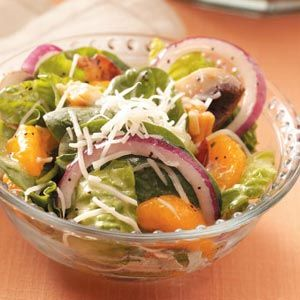 Orange Spinach Salad-I am in love with this salad dressing!