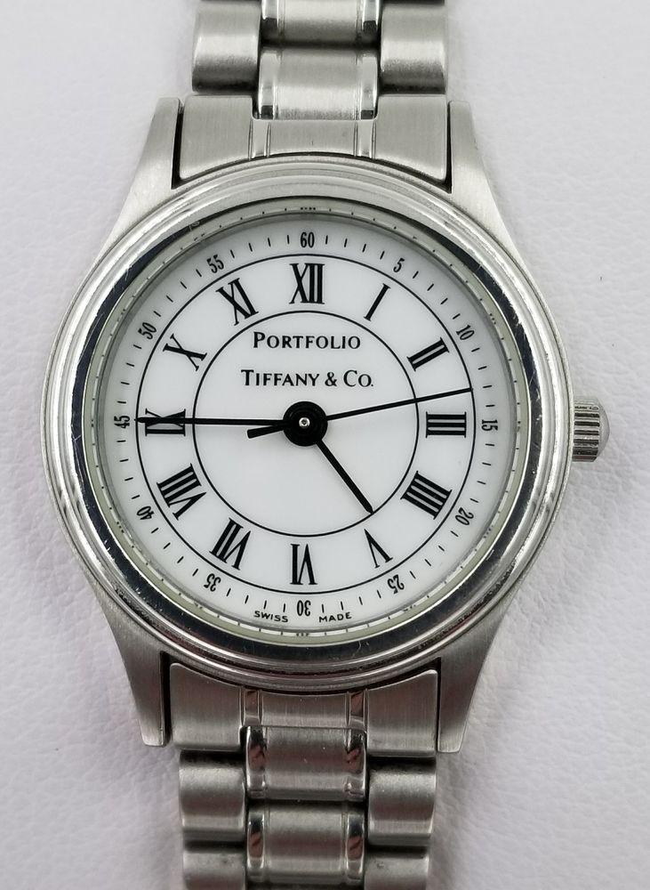 69ade5fe Tiffany & Co. Portfolio Stainless Steel Ladies Wristwatch In ...