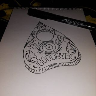 ouija planchette tattoo - Google Search