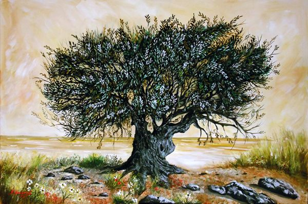 #Olivetree #tree #oil #painting www.eshop-art.gr