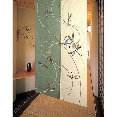 JAPANESE Noren Curtain NEW Dragonfly tonbo 85x150cm 11775