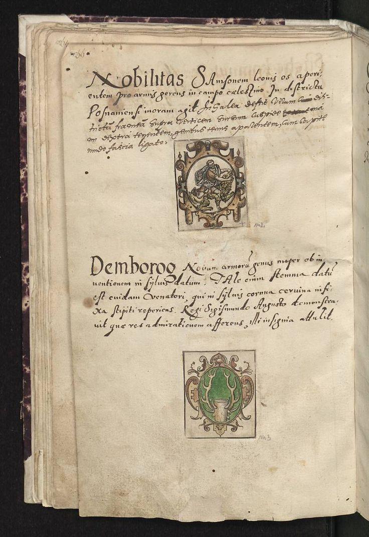 Herb Samson - Arma baronum Regni Poloniae per Joannem Długosz descripta