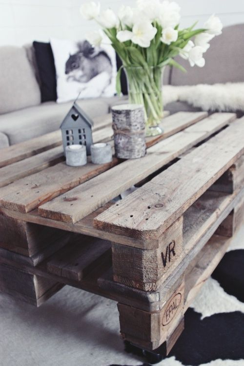 25 beste idee n over houten pallets op pinterest palletprojecten palleten en pallet ideas - Tafel een italien kribbe ontwerp ...