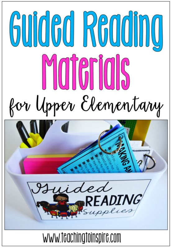 Must-have guided reading materials and supplies for upper elementary grades and…