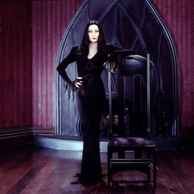 Morticia Addams- The original Goth Girl-Movie Character-She's dark, sexy and kinky!