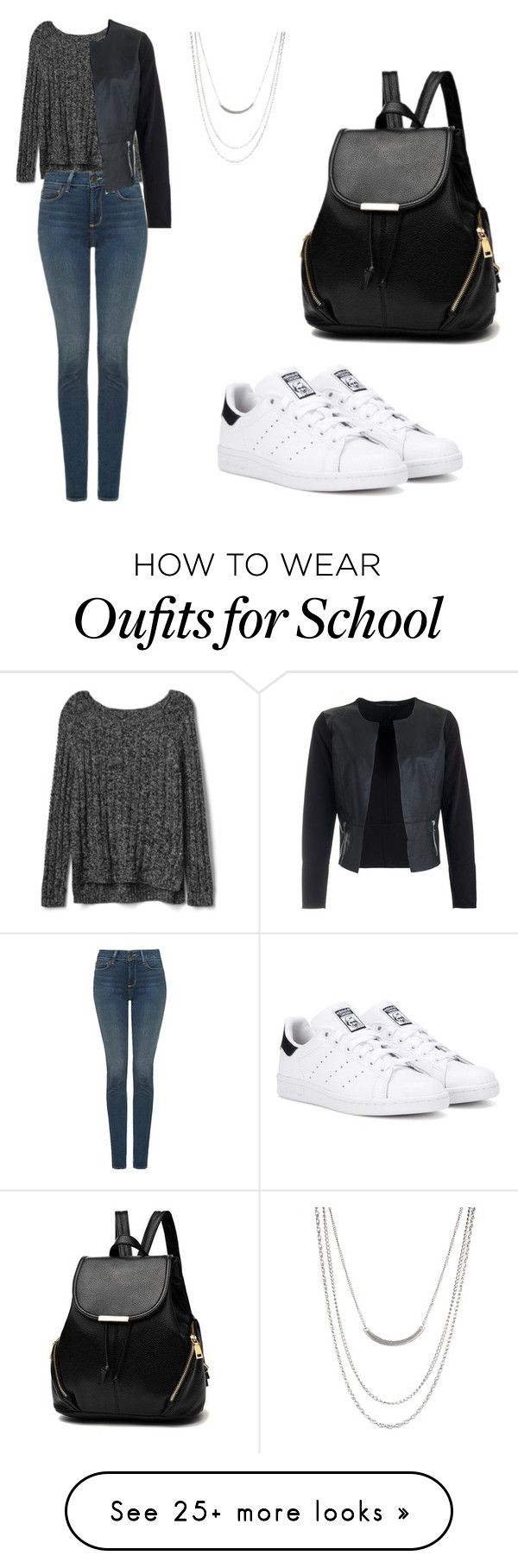 """school day"" by alena-654 on Polyvore featuring Gap, NYDJ, ASOS and adidas Originals"