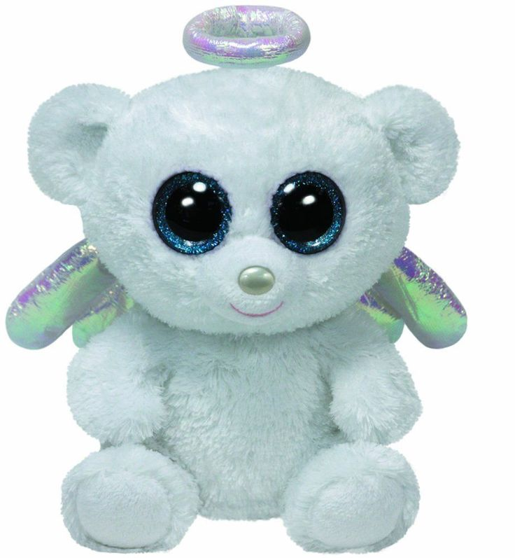 Ty Halo the Angel Bear Beanie Boos Stuffed Plush Toy