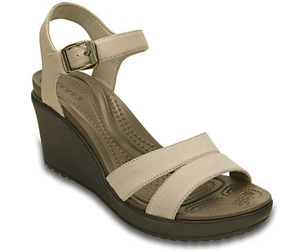 The second generation of our Leigh collection gives you the same fit as the original with more style, more comfort. It starts with a feminine overall shape and a beautiful mix of synthetic leather and canvas straps. The contoured Croslite™ foam footbed gives you a little more arch support — making these wedges comfortable enough to wear all day. Free shipping on qualifying orders.