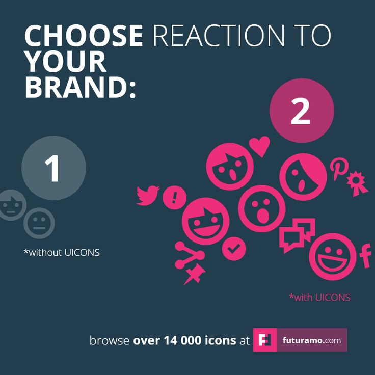 Choose reaction to your #brand. https://futuramo.com/ #brand #icons #design #branding #iconsdesign #futuramo