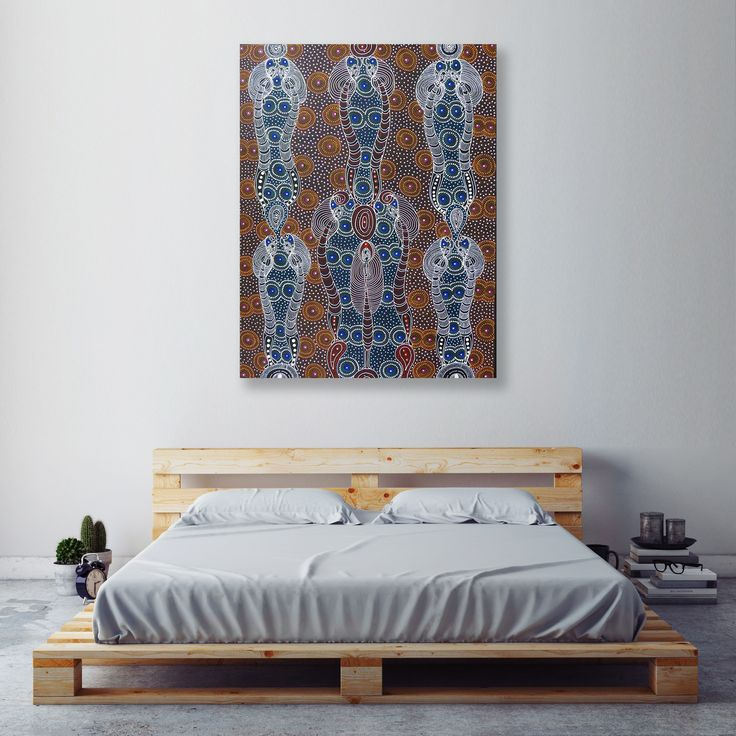 || ABOVE BED ART ||  Merging traditional styles with wooden furniture? LOVE!