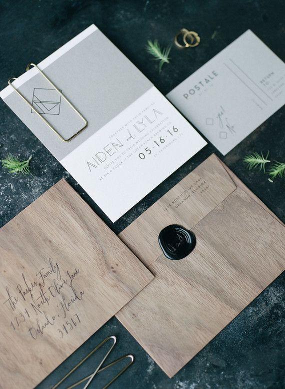 25+ best ideas about modern wedding invitations on pinterest, Wedding invitations