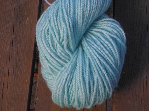 Luxury Hand Dyed Corriedale Wool DK weight Yarn, 4-ply, Mint