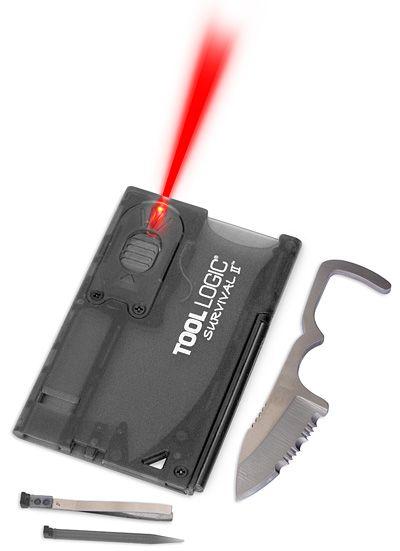 Tool Logic Survival Card with Firestarter #Gadget #Geek #Outdoor