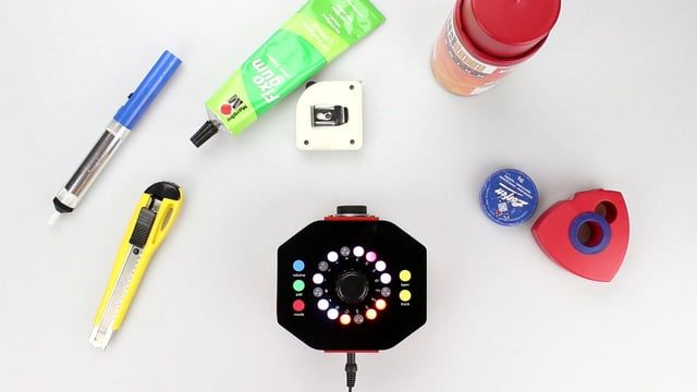 Gammaphon – A Portable 16-Step Music Sequencer that Transforms Colors into Sounds