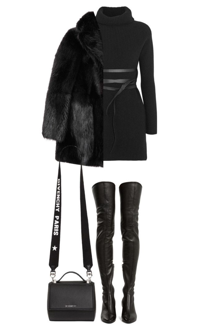 """Sem título #291"" by guccislave ❤ liked on Polyvore featuring Valentino, Yves Saint Laurent, Salvatore Ferragamo and Givenchy"